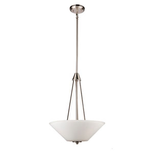 Clayton Brushed Nickel Three-Light Pendant