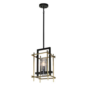 Riverview Oil Rubbed Bronze and Satin Brass One-Light Mini Pendant
