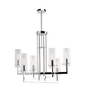 Brinkley Chrome Six-Light Chandelier