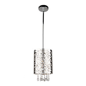 Celestial Chrome 8-Inch One-Light Mini Pendant