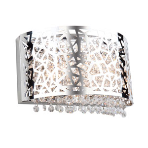 Celestial Chrome 12-Inch Two-Light Wall Sconce