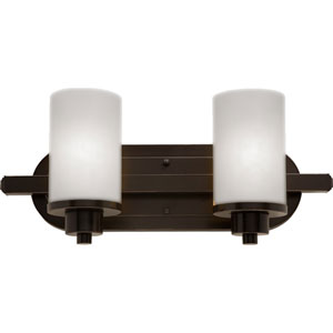 Parkdale Two-Light Oil Rubbed Bronze Bathroom Fixture