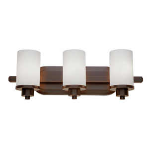 Parkdale Three-Light Oil Rubbed Bronze Bathroom Fixture