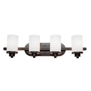 Parkdale Oil Rubbed Bronze Four Light Bath Wall