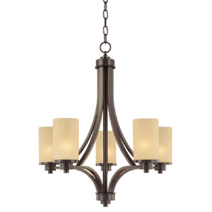Parkdale Oil Rubbed Bronze Five-Light Chandelier