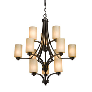 Parkdale Oil Rubbed Bronze Twelve-Light Chandelier