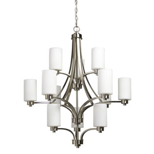 Parkdale Polished Nickel Twelve-Light Chandelier