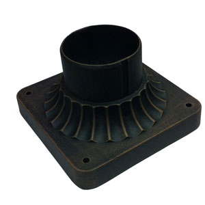 Classico Black Outdoor Post Mount adaptor