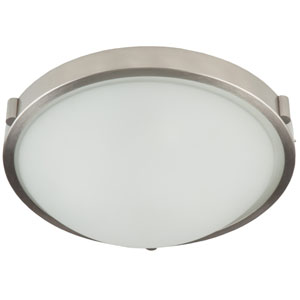 Boise Brushed Nickel Opal Glass One Light Flush Mount