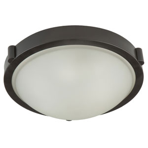 Boise Brushed Nickel Frosted Glass 5.5-Inch One Light Flush Mount
