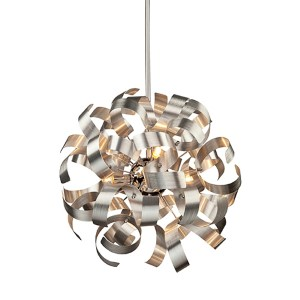 Bel Air Chrome Five-Light 18-Inch Wide Globe Pendant