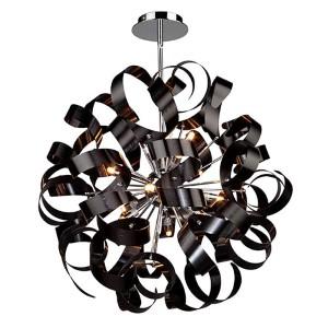 Bel Air Black 12-Light 24-Inch Wide Globe Pendant