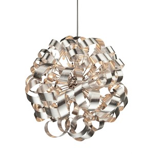 Bel Air Chrome 12-Light 34-Inch Wide Globe Pendant