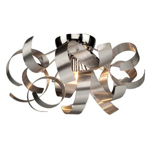 Bel Air Chrome Four-Light Flush Mount