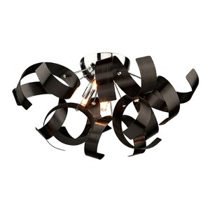 Bel Air Black Four-Light Flush Mount