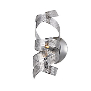 Bel Air Chrome Mesh Leaves One-Light Wall Sconce