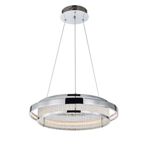 Gemma Chrome One-Light LED Pendant