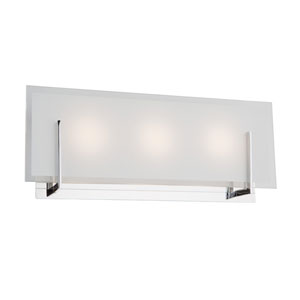 Kingsley Chrome LED Three-Light Bathroom Vanity