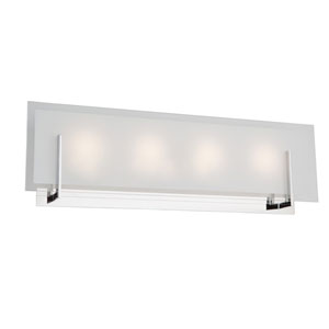 Kingsley Chrome LED Four-Light Bathroom Vanity