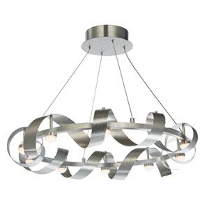 Rolling Hills Brushed Aluminum Ten-Light LED Pendant