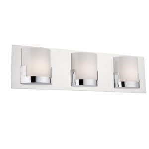 Rialto Chrome LED 22-Inch Three-Light Bathroom Vanity