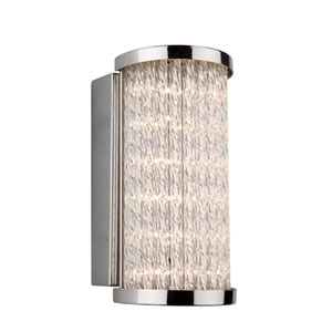 Waterfall Chrome LED Eight-Inch One-Light Bathroom Vanity