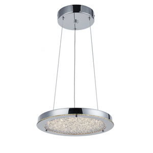 Stardust Chrome LED 12-Inch One-Light Pendant