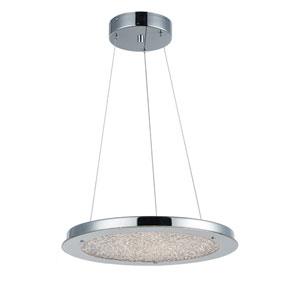 Stardust Chrome LED 16-Inch One-Light Pendant