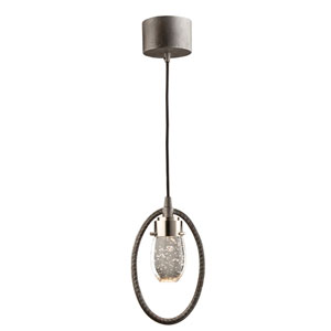 Kingsford Slate and Brushed Nickel 3-Inch LED Mini Pendant