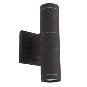 Nuevo Black Two-Light 10-Inch Wide Outdoor Wall Sconce