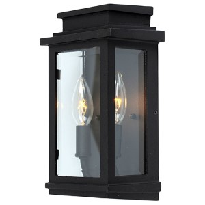 Fremont Black Two-Light 10.75-Inch High Outdoor Wall Sconce