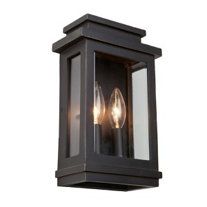 Fremont Oil Rubbed Bronze Two-Light 11-Inch High Outdoor Wall Sconce