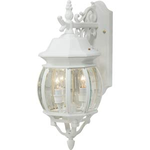 Classico European Styled Lantern Down Medium Outdoor Wall Mount