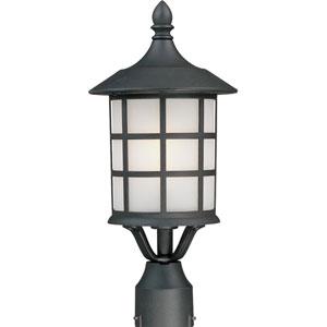 Yorktown Black One-Light Outdoor Post Mount