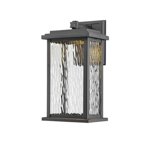 Sussex Black LED Six-Inch One-Light Outdoor Wall Sconce
