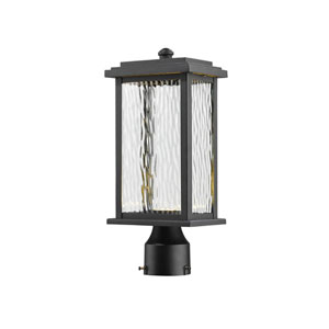Sussex Black LED One-Light Outdoor Post Mount