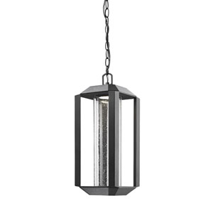 Wexford Black LED Seven-Inch One-Light Outdoor Pendant