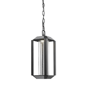 Wexford Black LED Five-Inch One-Light Outdoor Pendant