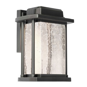Addison Silver Leaf 8-Inch One-Light LED Outdoor Wall Sconce