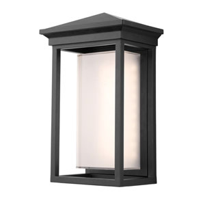 Overbrook Black 14-Inch One-Light LED Outdoor Wall Mount