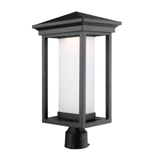 Overbrook Black One-Light LED Outdoor Post Mount