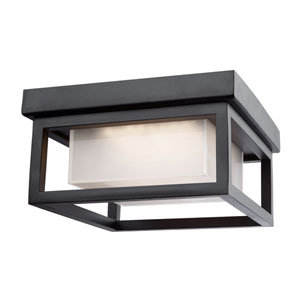 Overbrook Black One-Light LED Outdoor Flush Mount