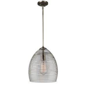 Artisan Brushed Nickel 12-Inch One-Light Mini Pendant