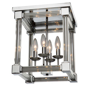 Prince Arthur Chrome Four-Light Flush Mount