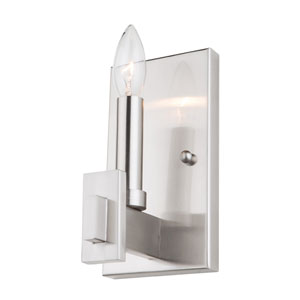 Cityscape Polished Nickel One-Light Wall Sconce