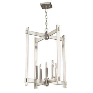 Cityscape Polished Nickel Five-Light Pendant
