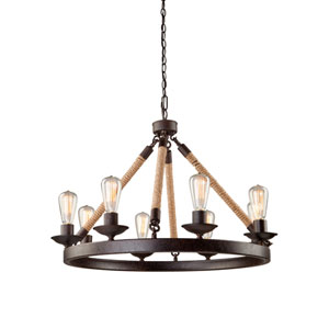 Danbury Bronze Eight Light Chandelier