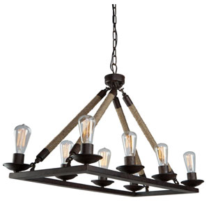 Danbury Bronze Eight-Light Chandelier