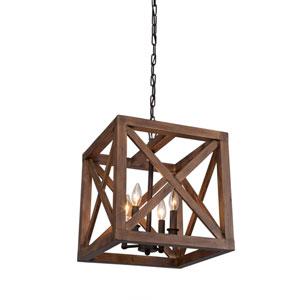 Collingwood Walnut Four-Light Pendant
