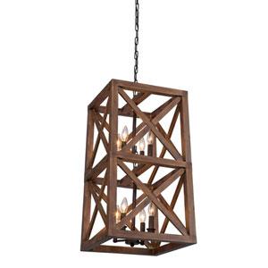 Collingwood Walnut Eight-Light Pendant